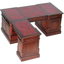 bureau style anglais bureau d angle style anglais en acajou plateau cambridge