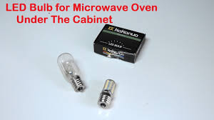 oven light bulb led led bulb for microwave oven under the cabinet youtube