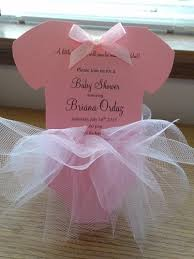 ballerina baby shower invitations baby shower tutu onesie ballerina pink tulle invitation girl