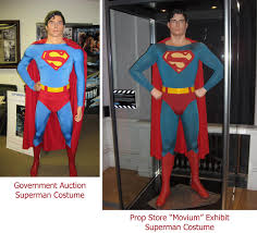 Halloween Prop Store by Government Auction U201coriginal U201d Christopher Reeve Superman Costume
