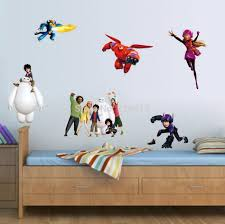 animation movie big hero 6 hiro hamada baymax lovely cartoon animation movie big hero 6 hiro hamada baymax lovely cartoon sitting room the bedroom setting removable diy wall stickers poster