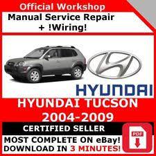 2005 hyundai tucson repair manual hyundai car manuals and literature ebay