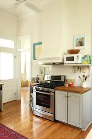 painted lower cabinets behr graceful gray vent hood calming