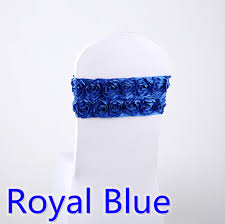 royal blue chair sashes luxury chair sash royal blue colour for luxury weddings fit all