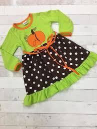 the hair bow company fall pumpkin u0026 polka dots dress for girls
