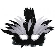 black white formal feather mask mardigrasoutlet