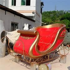 customized outdoor christmas fiberglass santa sleigh decoration