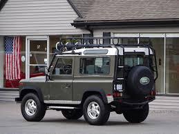 green land rover defender 1997 land rover defender 90 le copley motorcars