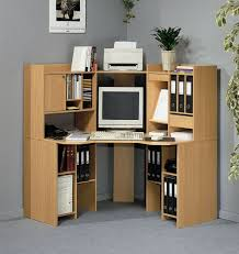 Computer Desk With Filing Cabinet Furniture Amazing Maple Wood Corner Computer Desk Design With