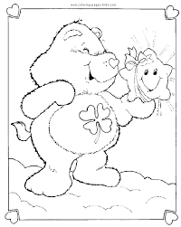 care bear color cartoon color pages printable cartoon
