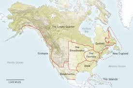 map of mexico and america nine nations of america 30 years later nytimes