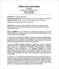 exle resume pdf federal resume template 10 free word excel pdf format