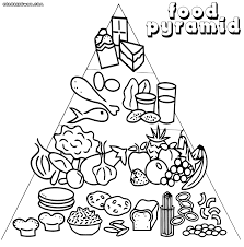free printable food coloring pages for kids and pyramid page