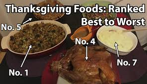 what s the best thanksgiving food i ranked 15 from best to worst