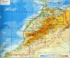 Italy Physical Map by Large Detailed Physical Map Of Morocco With Roads And Cities In