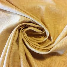Yellow Drapery Linen Look Solid French Butter Yellow Drapery Home Decor Fabric Hd799
