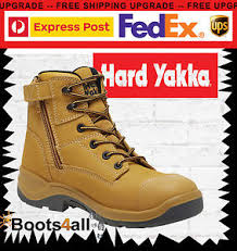 yakka s boots yakka granite mens work boots lace up wheat steel toe zip