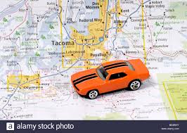 Tacoma Washington Map by Automobile On Road Map Or Seattle Tacoma Washington Usa United