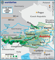 map germany austria austria map geography of austria map of austria worldatlas