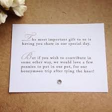 how to register for honeymoon money 65 x wedding poem cards for invitations money gift