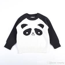 panda sweater panda sweaters pullover knitted autumn