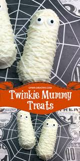 twinkie mummy halloween treats for a party oh my creative
