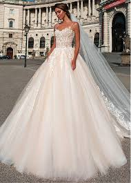 wedding dresses without straps buy discount attractive tulle spaghetti straps neckline gown