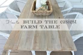 easy diy farmhouse table easy diy dining room table