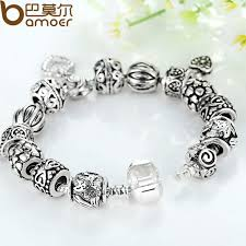 antique silver bracelet charms images Bamoer antique silver charm bracelet bangle silver 925 with jpeg