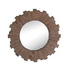wall mirrors decorative mdf wood framed round mirror wall art
