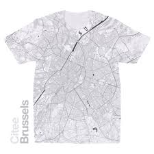Brussels Map Citee Fashion Brussels Map T Shirt