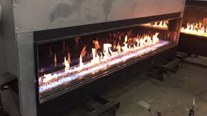 acucraft custom gas linear fireplace with led lighting youtube