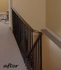 Wrought Iron Banister How To Paint Interior Wrought Iron Railings On The Cheap Infobarrel