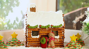 how to make a gingerbread house log cabin no kit required