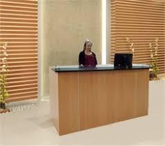 standing height glass top reception desk series 6 u0027w desk
