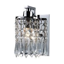 Elk Bathroom Lighting Modern Bathroom Light With Clear Glass In Polished Chrome Finish