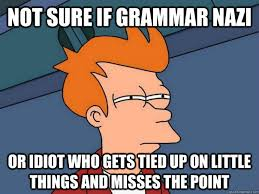 Grammer Nazi Meme - hey grammar nazis your club sucks