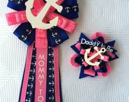 to be corsage baby shower corsage pin set nautical sailing anchor to