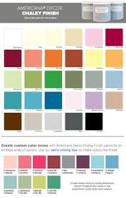 folk art chalk paint color chart google search chalk paint