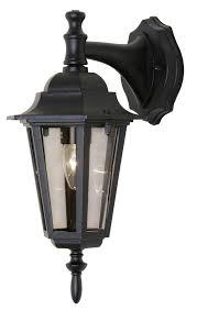 oaks lighting 171dnbk black downturned outside light