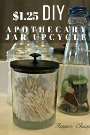 1 75 bathroom apothecary jar upcycle flippin u0027 cheap