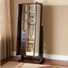 free standing jewellery armoire uk mirrored jewelry armoire free standing full length mirror