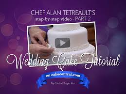 how to make your own wedding cake part 2 of 2 by chef alan