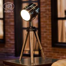 european style retro real wood tripod table lamp study office spot