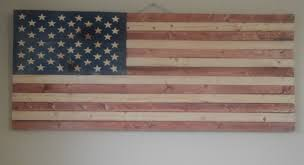 rustic wooden american flag build 5 steps with pictures