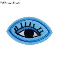 eye pattern clothes doreenbeads 5pcs polyester patches appliques diy scrapbooking craft