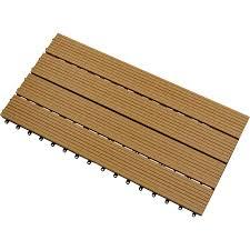 clearance shop 1 box of oak coloured composite decking tiles 1