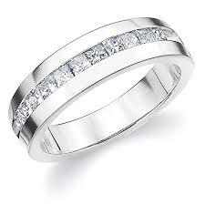 mens engagement rings white gold platinum s princess cut ring 1 0 cttw e f color