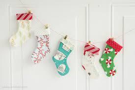 Homemade Christmas Stockings by Mini Christmas Stocking Garland Tutorial The Polka Dot Chair