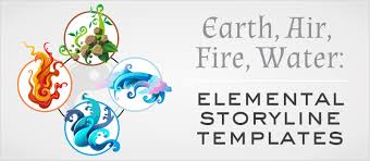 earth air water elemental storyline templates elearning